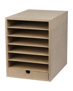 Papier opslag unit, H: 31,5 cm, diepte 32 cm, B: 24,3 cm, A4, 1 stuk