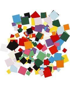 Karton mozaiek, vierkant, afm 10+15+20 mm, 180 gr/ 1 doos