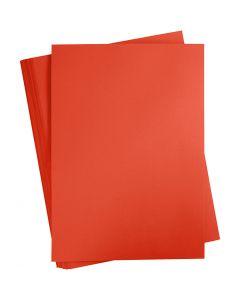 Gekleurd Karton, A2, 420x600 mm, 180 gr, helder rood, 100 vel/ 1 doos