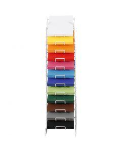Gekleurd karton, H: 900 mm, A4, 210x297 mm, diverse kleuren, 12x100 vel/ 1 doos