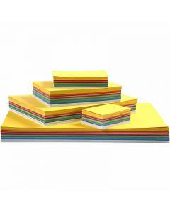 Lente karton, A2,A3,A4,A5,A6, 180 gr, diverse kleuren, 1800 div vellen/ 1 doos