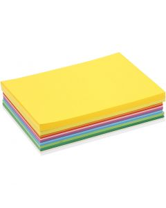 Lente karton, A5, 148x210 mm, 180 gr, diverse kleuren, 300 div vellen/ 1 doos