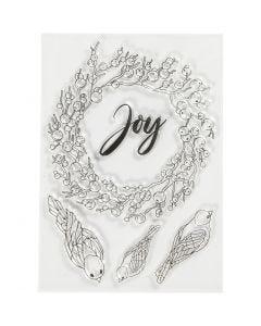 Silicone stempels, joy, afm 10,5x15 cm, 1 vel
