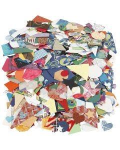 Vormen van handgemaakt papier, afm 25-130 mm, 110 gr, 500 gr/ 1 doos