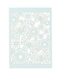 Patroonkarton, 10,5x15 cm, 200 gr, lichtblauw, 10 stuk/ 1 doos