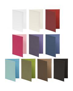 Kaart, afmeting kaart 10,5x15 cm, Inhoud kan variëren , 250 gr, diverse kleuren, 30 doos/ 1 doos