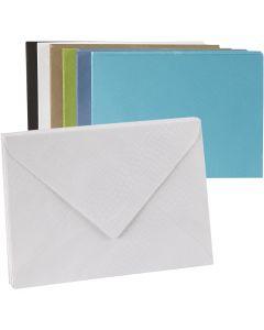 Gekleurde enveloppen, afmeting envelop 11,5x16 cm, Inhoud kan variëren , 100 gr, 100 stuk/ 1 doos