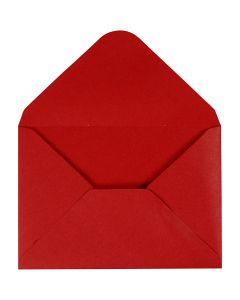 Envelop, afmeting envelop 11,5x16 cm, 110 gr, rood, 10 stuk/ 1 doos