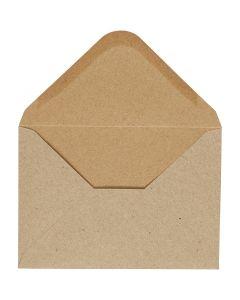 Envelop, afmeting envelop 11,5x16 cm, 110 gr, naturel, 10 stuk/ 1 doos