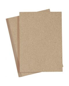 Papier, A4, 210x297 mm, 120 gr, naturel, 20 stuk/ 1 doos