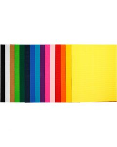 Ribbelkarton, 50x70 cm, 80 gr, 15 div vellen/ 1 doos