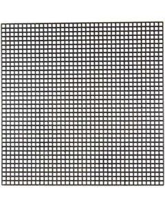 Kruissteken plastic, afm 14x14 cm, gatgrootte 3x3 mm, zwart, 5 vel/ 1 doos