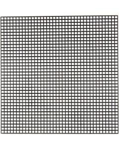 Kruissteken plastic, afm 14x14 cm, gatgrootte 3x3 mm, zwart, 50 vel/ 1 doos
