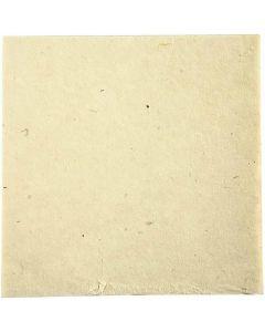 Handgemaakt papier van stof, 20x20 cm, 70 gr, off-white, 10 vel/ 1 doos