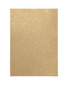 Papier, A4, 210x297 mm, 80 gr, goud, 20 vel/ 1 doos