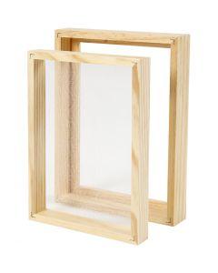 Papiermal met dubbel frame, A5, afm 25x19x3cm , 1 stuk