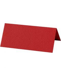 Plaatskaarten, afm 9x4 cm, 220 gr, rood, 20 stuk/ 1 doos