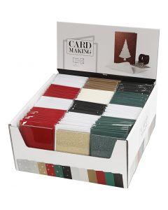 Kaarten en enveloppen, afmeting kaart 10,5x15 cm, afmeting envelop 11,5x16,5 cm, 120 set/ 1 doos