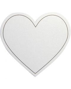 Harten, afm 75x69 mm, 120 gr, wit, 10 stuk/ 1 doos