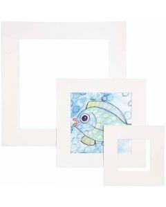 Passepartout lijsten, dikte 0,4 mm, 270 gr, wit, 75 stuk/ 1 doos