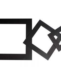 Passepartout lijsten, dikte 0,4 mm, 270 gr, zwart, 75 stuk/ 1 doos
