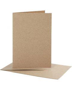 Kaarten en enveloppen, afmeting kaart 10,5x15 cm, afmeting envelop 11,5x16,5 cm, 10 set/ 1 doos