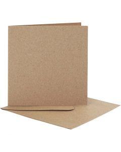 Kaarten en enveloppen, afmeting kaart 12,5x12,5 cm, afmeting envelop 13,5x13,5 cm, 10 set/ 1 doos