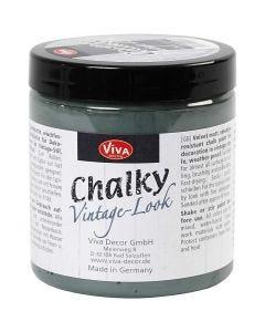 Chalky vintage look verf, dark green (702), 250 ml/ 1 Doosje