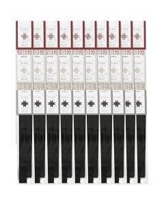 Papieren vlechtstroken, d: 6,5+11,5 cm, B: 15+25 mm, 3x10 doos/ 1 doos
