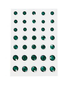 Strasstenen, ronde kegel, afm 6+8+10 mm, groen, 35 stuk/ 1 doos