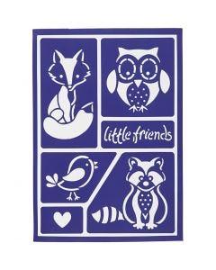 Flexibel sjabloon, kleine vrienden, 21x14,8 cm, 1 stuk