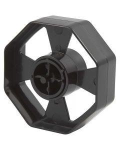 Plakbandhouder wiel, B: 25 mm, d: 7,5 cm, 1 stuk
