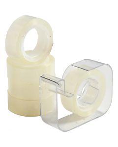 Plakband met dispenser, B: 15 mm, 1 set
