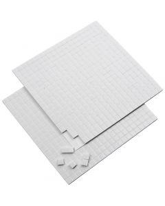 3D foam pads, afm 5x5 mm, dikte 2 mm, wit, 2 vel/ 1 doos, 2x400 stuk
