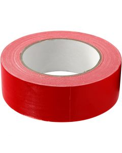 Canvas tape, B: 38 mm, rood, 25 m/ 1 rol
