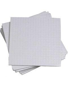 3D foam pads, afm 5x5 mm, dikte 1 mm, 10x400 stuk/ 1 doos