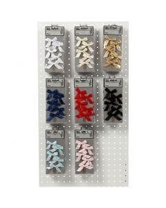 Clips, afm 40x70 mm, diverse kleuren, 8x10 doos/ 1 doos