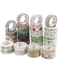 Masking Tape, B: 15 mm, 180x10 m/ 1 doos