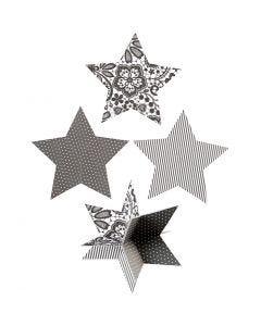 Sterren 3D, d: 15 cm, 300 gr, 3 stuk/ 1 doos