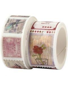 Masking tape, L: 3+5 m, B: 20+25 mm, 2 rol/ 1 doos