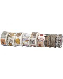 Masking tape, L: 3+5 m, B: 15+25 mm, 9 rol/ 1 doos