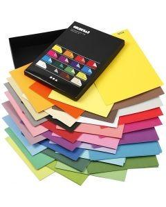 Color Bar papier, A4, 210x297 mm, 100 gr, diverse kleuren, 16x100 vel/ 1 doos