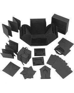 Explosion box, afm 7x7x7,5+12x12x12 cm, zwart, 1 stuk
