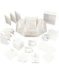 Explosion box, afm 7x7x7,5+12x12x12 cm, off-white, 1 stuk