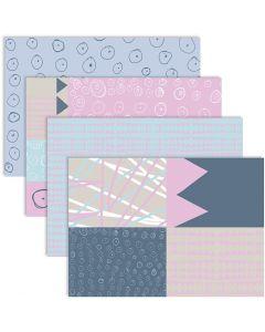Decoupage papier, 25x35 cm, 17 gr, 4x2 vel/ 1 doos