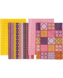Decoupage papier - Assortiment, 25x35 cm, 17 gr, 8 div vellen/ 1 doos