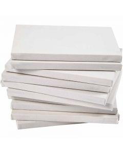 Gespannen canvas, A5, afm 14,8x21 cm, 280 gr, wit, 80 stuk/ 1 doos