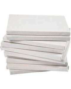 Gespannen canvas, afm 18x24 cm, 280 gr, wit, 40 stuk/ 1 doos