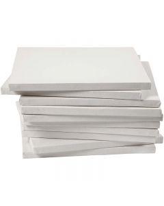 Gespannen canvas, afm 30x30 cm, 280 gr, wit, 40 stuk/ 1 doos