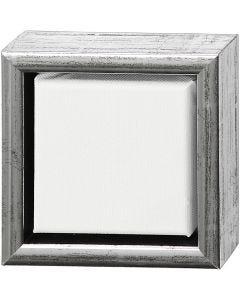 ArtistLine Canvas met lijst, diepte 3 cm, afm 14x14 cm, wit, antiek zilver, 1 stuk